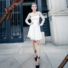 東京衣服-嬌蘭蕾絲修飾顯瘦短版小外套  白(共二色)
