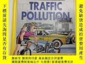 二手書博民逛書店1991年版罕見TRAFFIC POLLUTION 交通汙染 我們的世界 精裝英文版 庫存舊書Y259256