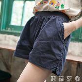 百搭短褲女夏季大碼寬鬆純棉休閒褲鬆緊腰闊腿褲韓版顯瘦運動褲潮  潮流衣舍
