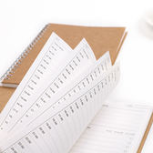 【03741】時間表計畫本 線圈記事本 學習 手帳