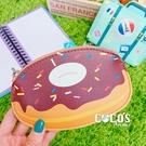 造型零錢包 甜甜圈 收納包 皮質零錢包 票卡包 票卡零錢包 COCOS WZ075