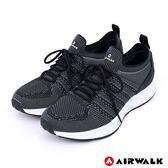 【AIRWALK】追夢先鋒編織鞋-黑色-男款