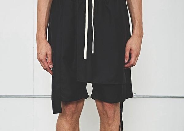 IMPACT DIE WELLE 17ss 黑色 拼接 短褲 飄帶 暗黑風格 高端 男女可穿 中國有嘻哈
