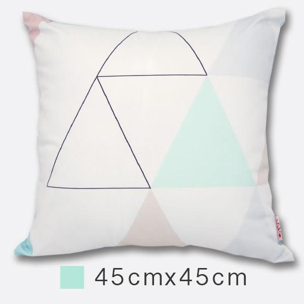 Udya印繪抱枕(含枕心)-山稜 45cmx45cm 小尺寸/ 設計款/ 印刷風/ 靠墊/ 腰枕/ 午安枕【MSBT 幔室布緹】