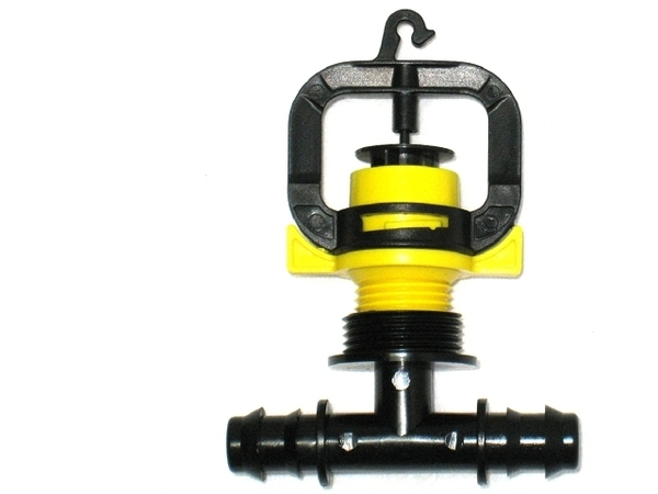 黃色旋轉式微霧噴頭16mm雙通接頭6個