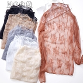MG 蕾絲內搭上衣-很仙洋氣蕾絲打底衫女長袖秋冬內搭性感鏤空網紗百搭上衣