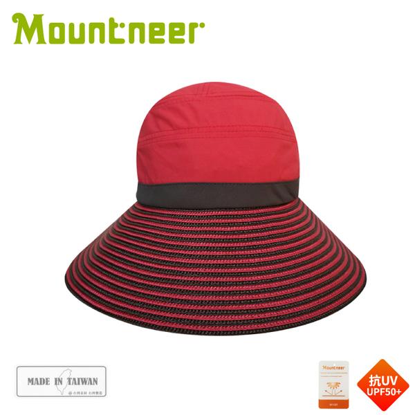 【Mountneer 山林 中性透氣抗UV草編帽《玫瑰紅》】11H06/抗UV/遮陽帽/防曬帽/休閒帽