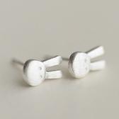 925純銀耳環(耳針式)-可愛小兔子生日情人節禮物女飾品73ag301[巴黎精品]