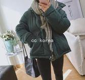 現貨L 保暖軍綠色 鋪棉外套 CC KOREA ~ Q19248