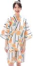Nishiki【日本代購】和式清涼居家服 睡衣 上下套裝 棉100%-白練地ヒマワリ