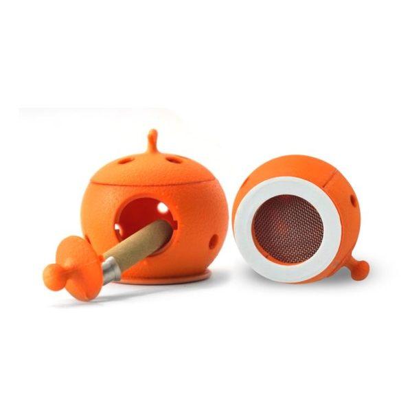店長推薦★橘子無煙艾灸盒隨身灸家用艾盒宮寒便攜艾炙盒艾條熏蒸儀艾灸罐