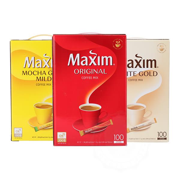 韓國 Maxim 原味 摩卡 白金咖啡(100入)【庫奇小舖】禮盒裝