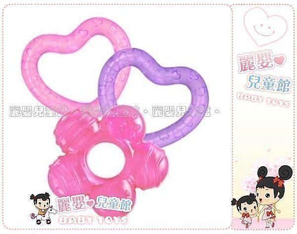 麗嬰兒童玩具館~美國kids II-Bright Starts嬰幼專櫃-可愛形狀涼涼固齒器-三入裝(公司貨)