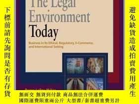 二手書博民逛書店The罕見Legal Environment Today---Y23583 Roger LeRoy Mille