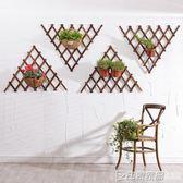 網格陽台懸掛牆壁牆上花架實木壁掛客廳綠蘿掛牆鐵藝吊蘭花盆掛式 印象家品旗艦店