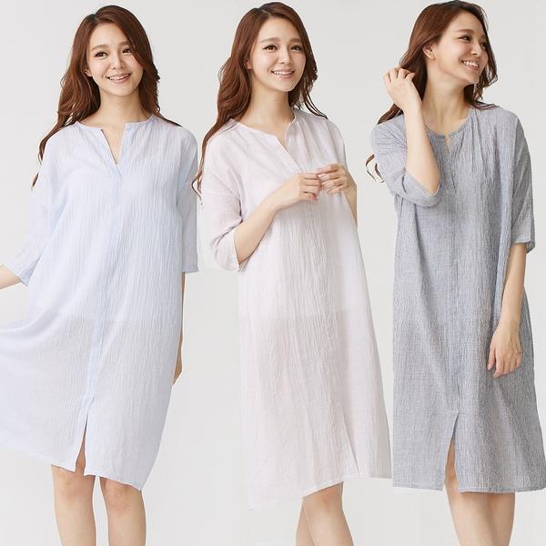 時尚獨特居家睡衣洋裝(3件組)