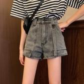 短褲2020夏季新款韓版復古高腰牛仔褲女顯瘦百搭直筒褲寬鬆寬管褲 米娜小鋪
