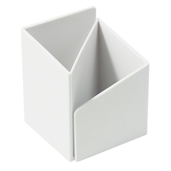 《享亮商城》03516 白色 轉角筆筒 ABEL