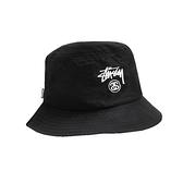 【現貨秒發】Stussy 漁夫帽 字樣LOGO 經典 黑白 休閒帽 運動帽 遮陽 舒適 穿搭 男女 ST1