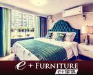 『 e+傢俱 』BB34 埃菲 Effie 雙人床架 | 經典復古 | 布質床 | 5尺雙人 | 6尺雙人 可訂做