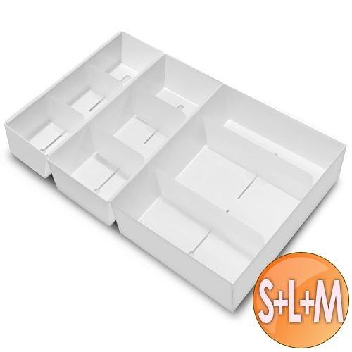 WallyFun 衣碟收納盒 (L+M+S各1入) ~抽屜衣物收納好幫手