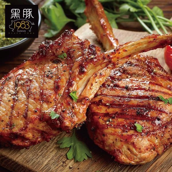 【任選免運】台灣神農1983極品黑豚【19盎司】霸氣戰斧豬~大1片組(550公克/1片)
