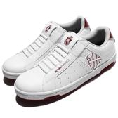 Royal Elastics 休閒鞋 Icon 白 紅 無鞋帶設計 皮革鞋面 女鞋【PUMP306 92081001