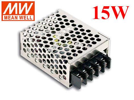 明緯MW 5V/3A/15W RS-15-5 機殼型(Enclosed Type)交換式電源供應器