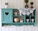 實木壁櫃地中海裝飾吊櫃新款掛櫃zakka做舊白廚房置物櫃