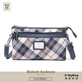 Kinloch Anderson 金安德森 側背包 懷特島旅行 經典格紋 2Way 肩揹包 手提包 蔚海藍 KA170607 得意時袋