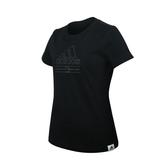 ADIDAS 女短袖T恤(純棉 慢跑 路跑 上衣 愛迪達≡體院≡ GD3818_1