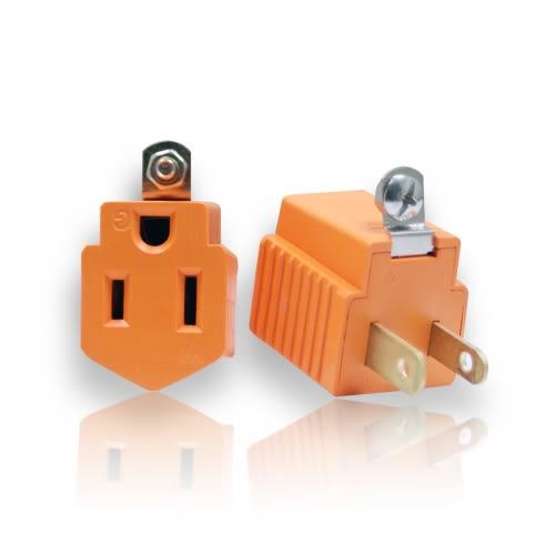 三轉二電源轉接插頭 (1入) AC110V 15A 1650W 3轉2 家用電源轉接頭 居家電源轉接器 電源轉換器