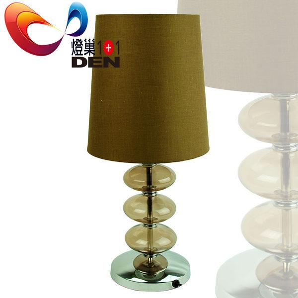 【 燈巢1+1】 燈具。燈飾。Led居家照明。桌立燈。工廠直營批發  卡布奇諾藝術玻璃桌燈   07041587