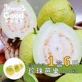 【鮮食優多】綠安 網室栽培燕巢牛奶珍珠芭樂1盒(6斤/12-14粒/1盒)