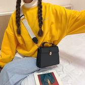 韓國百搭小方包新款單肩包純色氣質休閒手提包斜挎包小包包女包潮 【販衣小築】