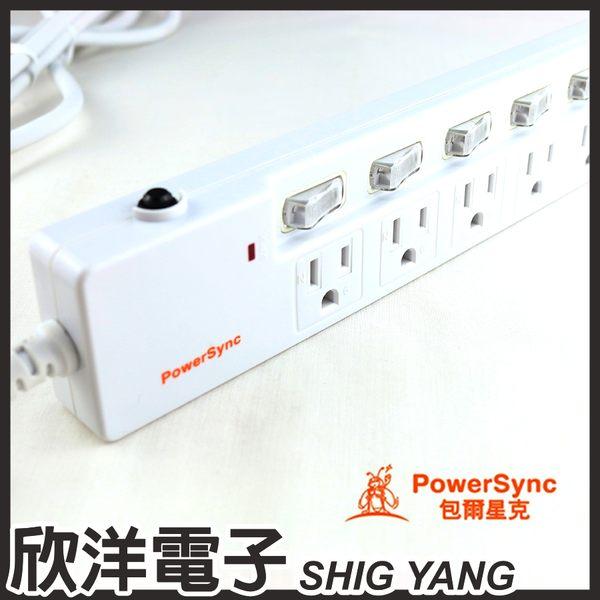 群加科技 防雷擊 6開6插 / 六開六插加距延長線 1.8M/3P (TPS366GN9018) PowerSync包爾星克