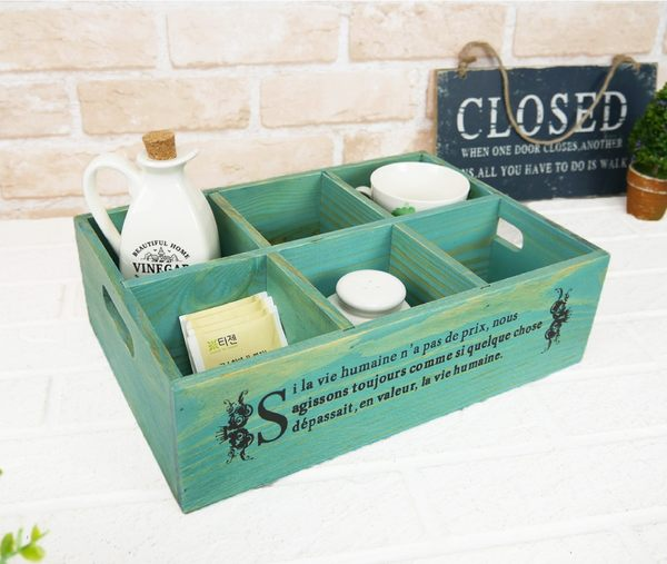 收納盒 飯店指定原木質實木製加高英文字置物托盤多功能化妝品民宿備品展示盒收納架-米鹿家居