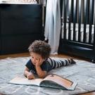 卡通北歐風兒童房地毯26個英文字母圓形地毯防滑裝飾 錢夫人小舖