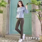 betty's貝蒂思 舒適彈性腰圍窄管褲(墨綠)