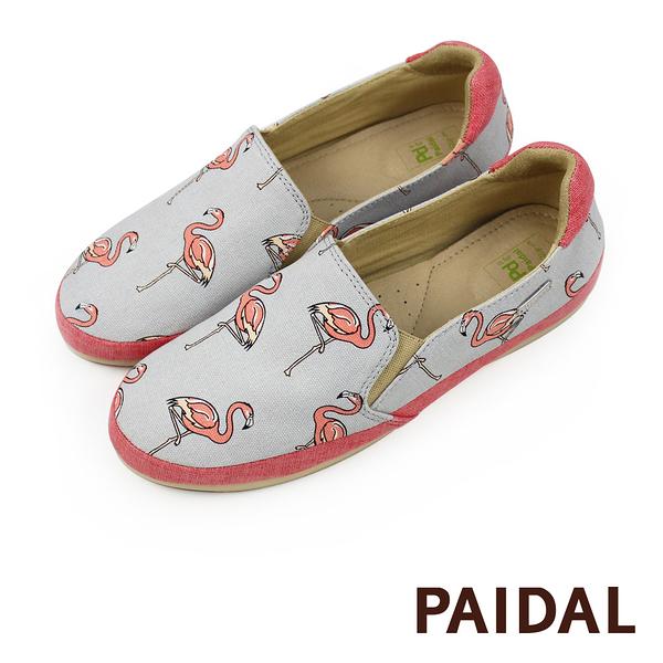 Paidal 紅鶴印花休閒鞋樂福鞋懶人鞋