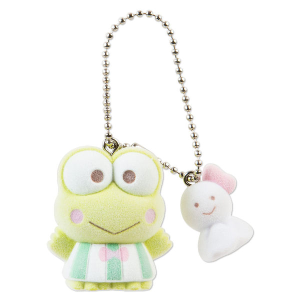【震撼精品百貨】KeroKeroKeroppi 大眼蛙~麂皮鎖圈-大眼蛙與晴天娃娃
