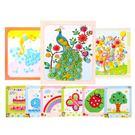 diy紐扣畫兒童手工制作材料包幼兒園粘貼畫裝飾畫玩具EVA貼畫12張【快速出貨八折優惠】