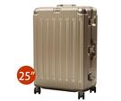 【BATOLON 寶龍】鋁框硬殼行李箱 旅行箱 25吋 (靜音飛機輪.TSA海關鎖.輕量)『香檳金』BL223625