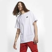 NIKE 短T NSW TEE 刺繡小LOGO 短袖 白色T 男 (布魯克林) AR4999-101