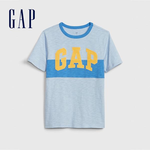 Gap男童棉質舒適圓領短袖T恤
