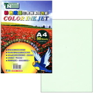 台紐A4彩色噴墨專用色紙50入211#淺綠