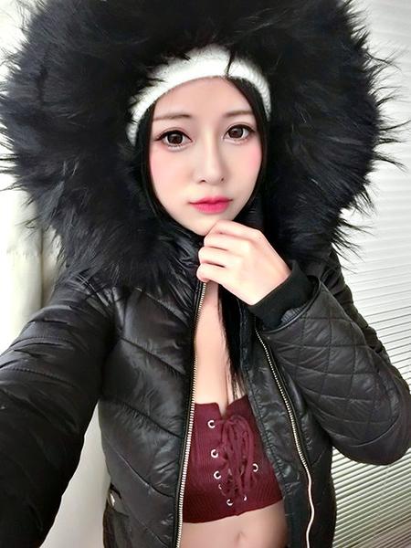 克妹Ke-Mei【AT56967】原單!奢華皮草毛毛亮面皮革拉鍊短版外套