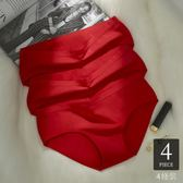 店長嚴選紅內褲女本命年純棉質中腰大紅色結婚低腰無痕少女三角女士屬豬