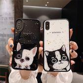 【SZ13】滴膠金箔情侶款貓咪 iphone xs max 手機殼 iphone 7/8 plus手機殼 iphone 6s plus 手機殼 XR