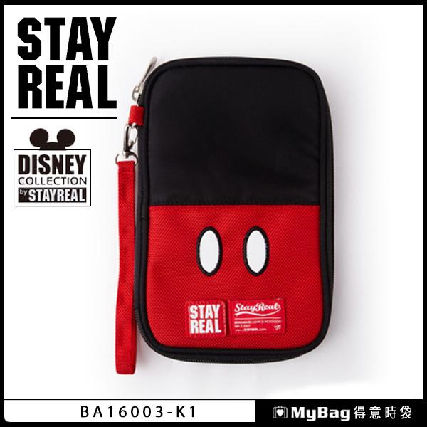 STAYREAL Mickey 微笑吧米奇萬用包 黑色 BA16003 得意時袋